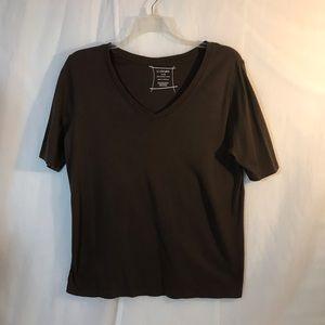 Lane Bryant Vneck supima cotton shortsleeved shirt